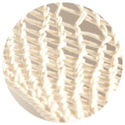 Virginia Écru - Fresca estructura de red