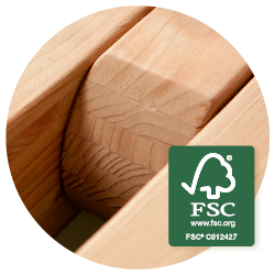 Canoa Caramel - Scandinavisch sparrenhout uit duurzame bosbouw