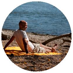 Colibri Orange - Kan anvendes som picnic-tæppe