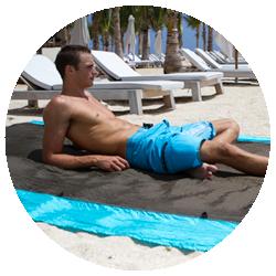 Colibri Orange - Doubles as a Picnic or Beach Blanket